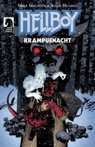 Обложка к комиксу Хеллбой Ночь Крампуса
